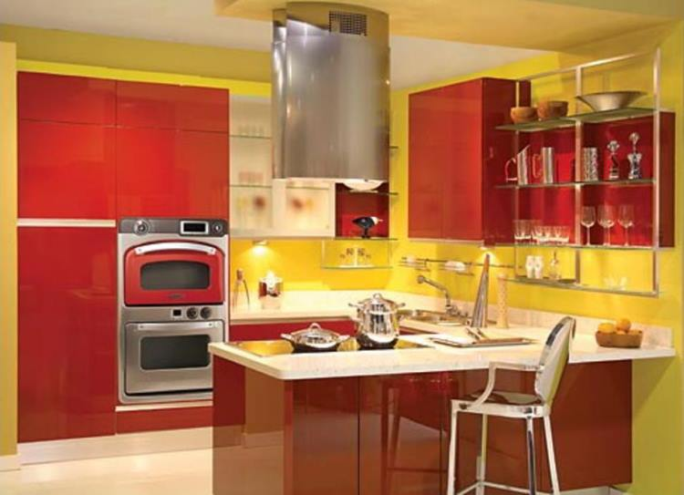 красная кухня фото 11