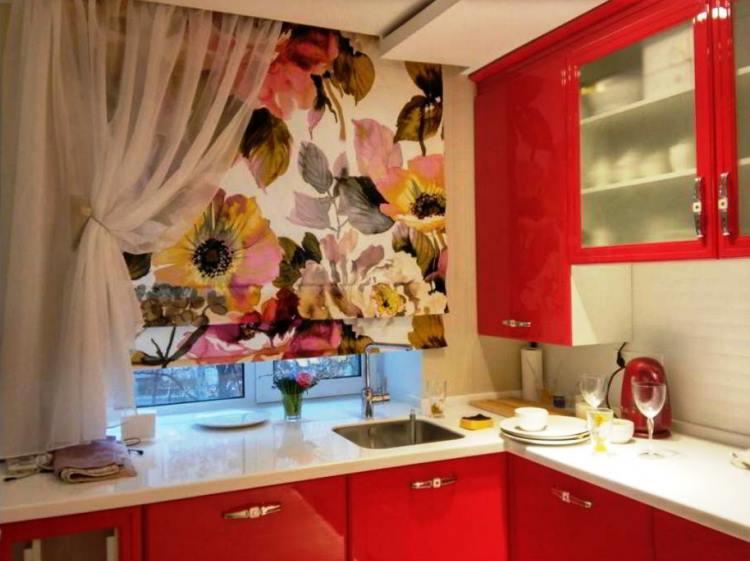 красная кухня фото 12
