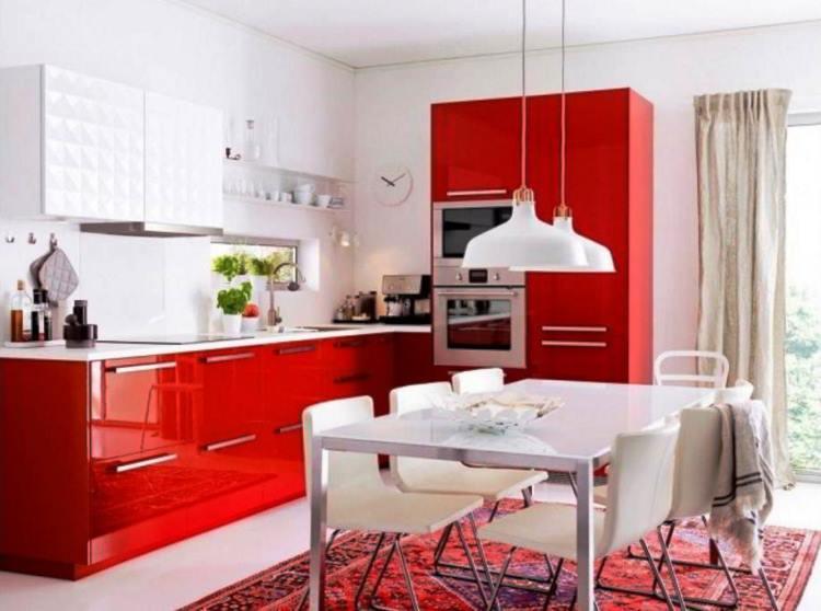 красная кухня фото 14