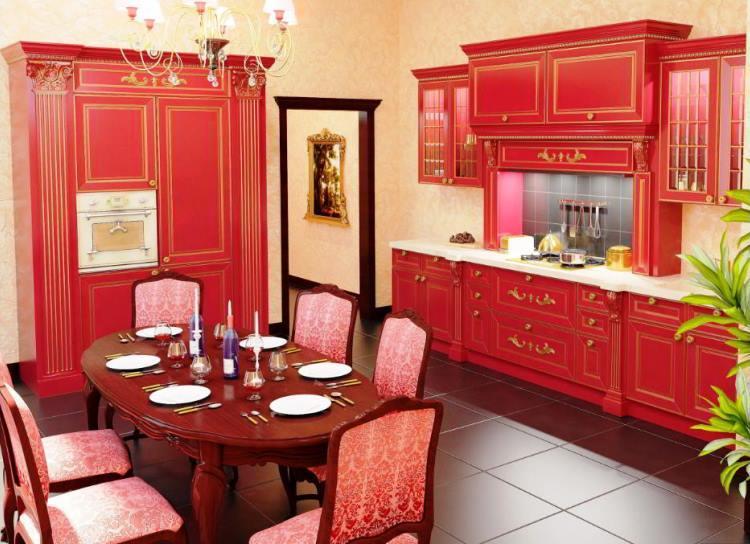 красная кухня фото 15