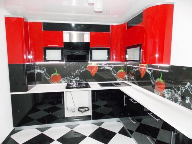 красная кухня фото 16