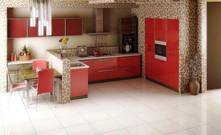красная кухня фото 17