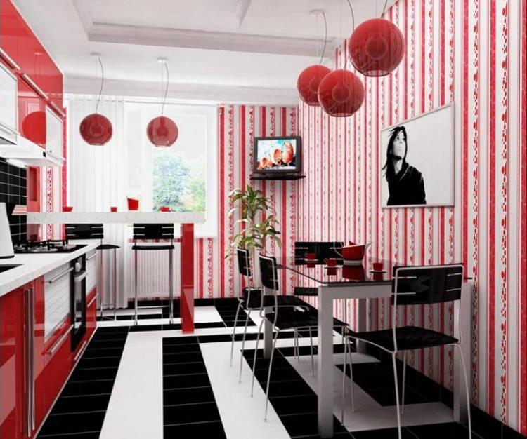 красная кухня фото 18