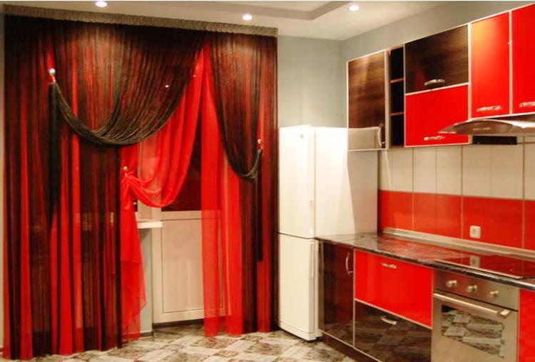 красная кухня фото 19