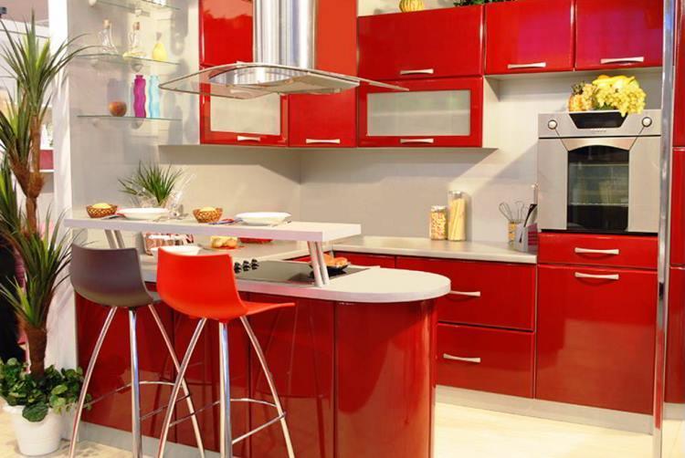 красная кухня фото 2