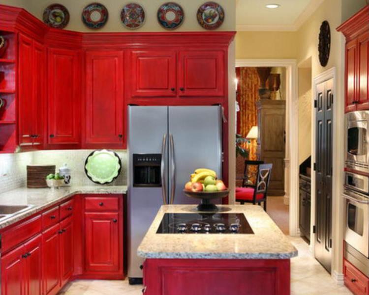 красная кухня фото 3