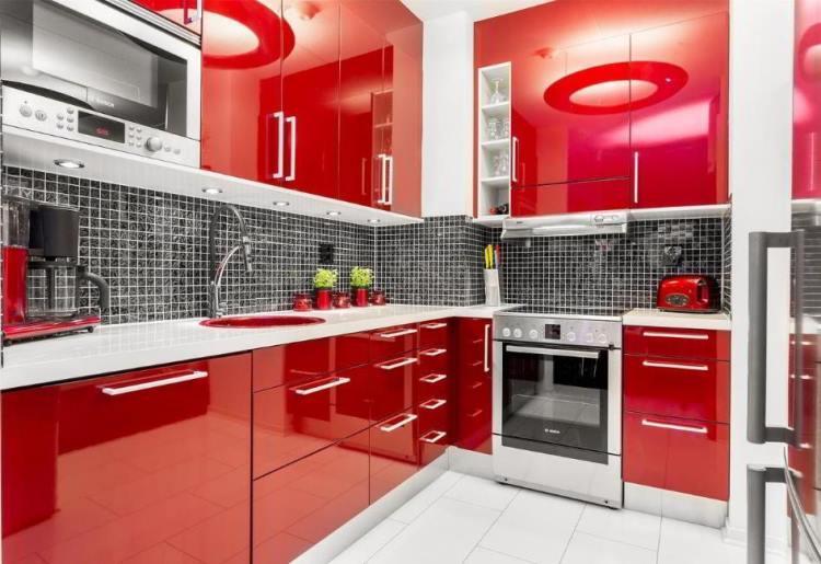 красная кухня фото 5