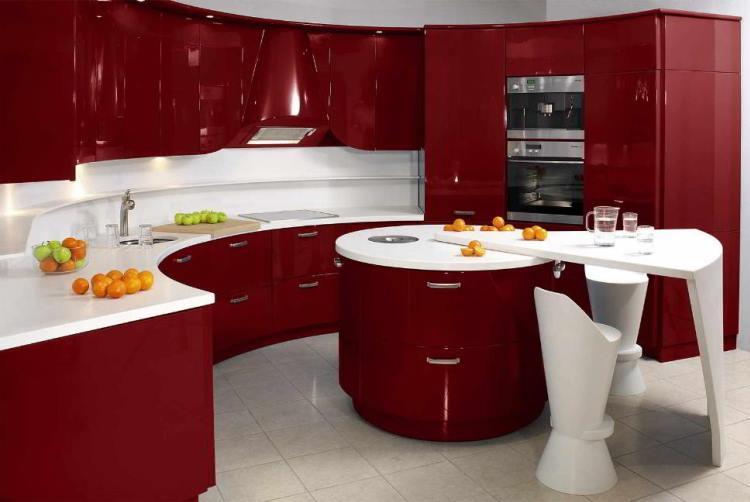 красная кухня фото 6