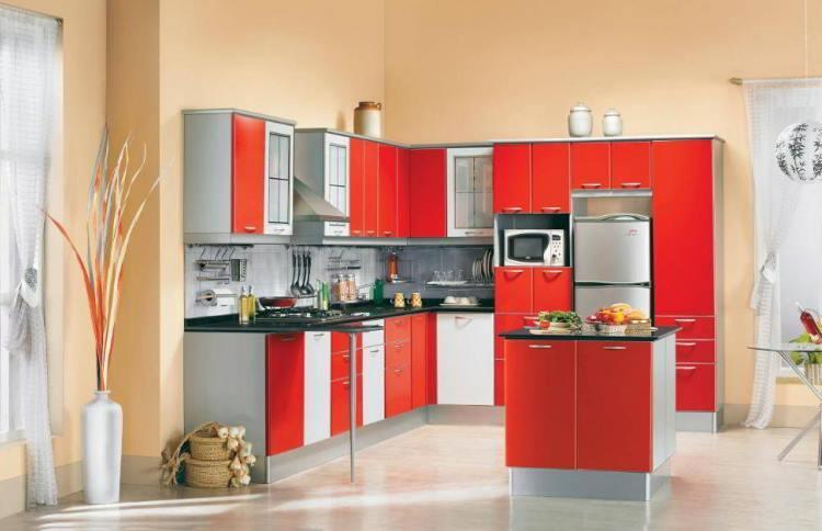 красная кухня фото 7
