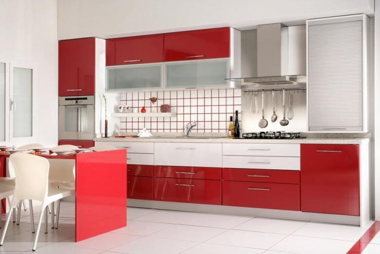 красная кухня фото 8
