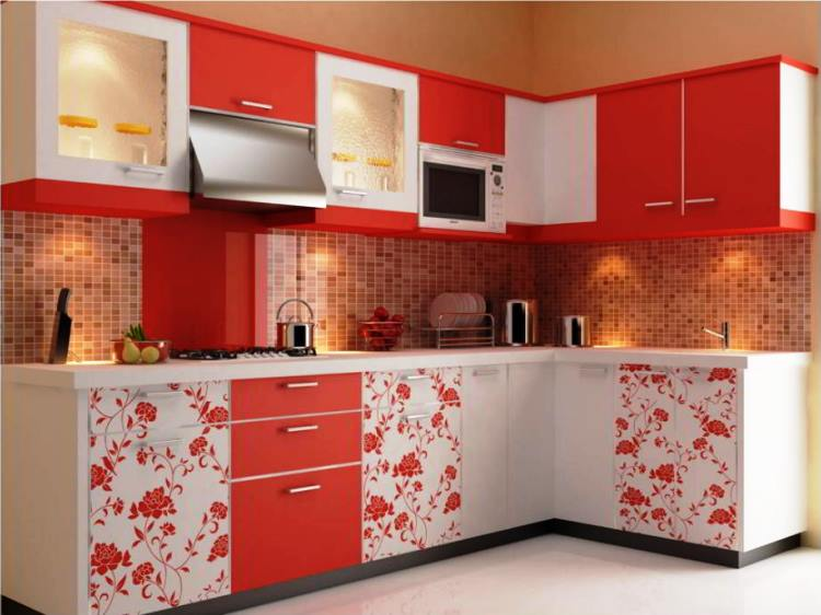 красная кухня фото 9