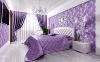 спальня в сиреневых тонах фото