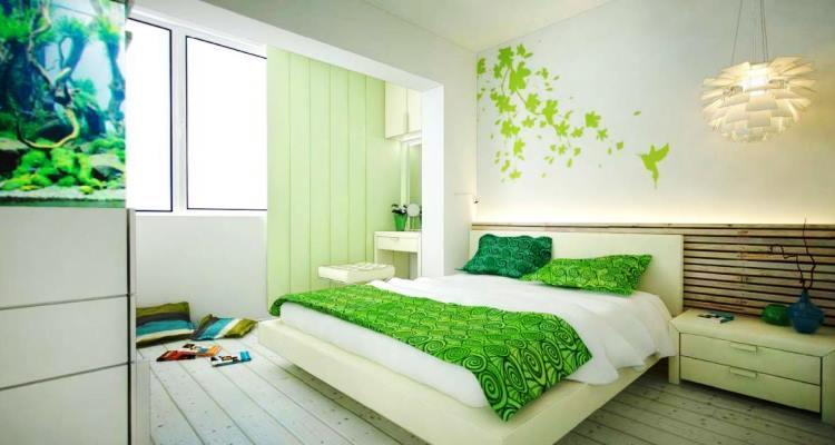 зеленый интерьер фото 10
