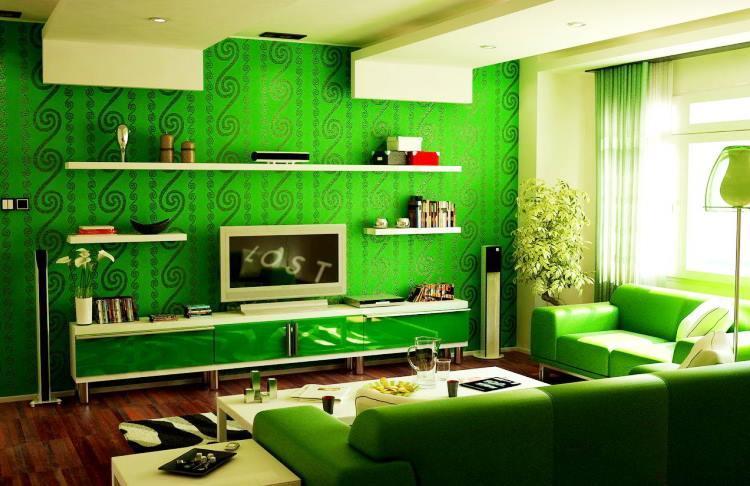 зеленый интерьер фото 12