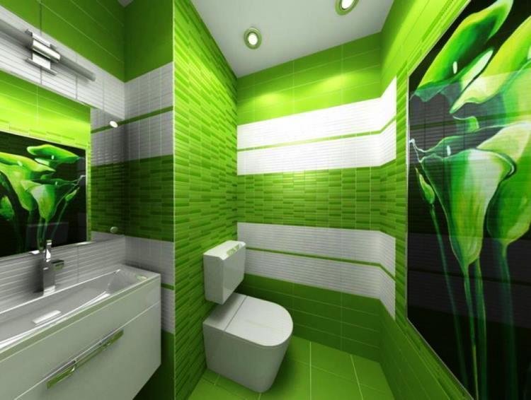 зеленый интерьер фото 16