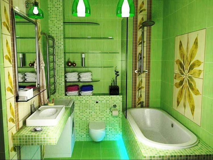 зеленый интерьер фото 17