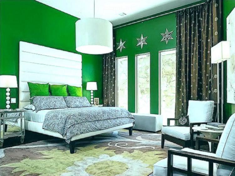 зеленый интерьер фото 19