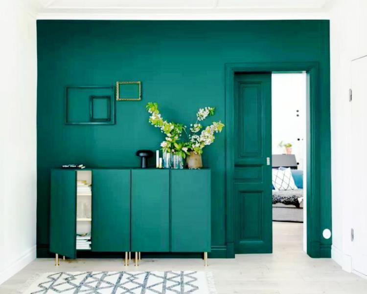 зеленый интерьер фото 21