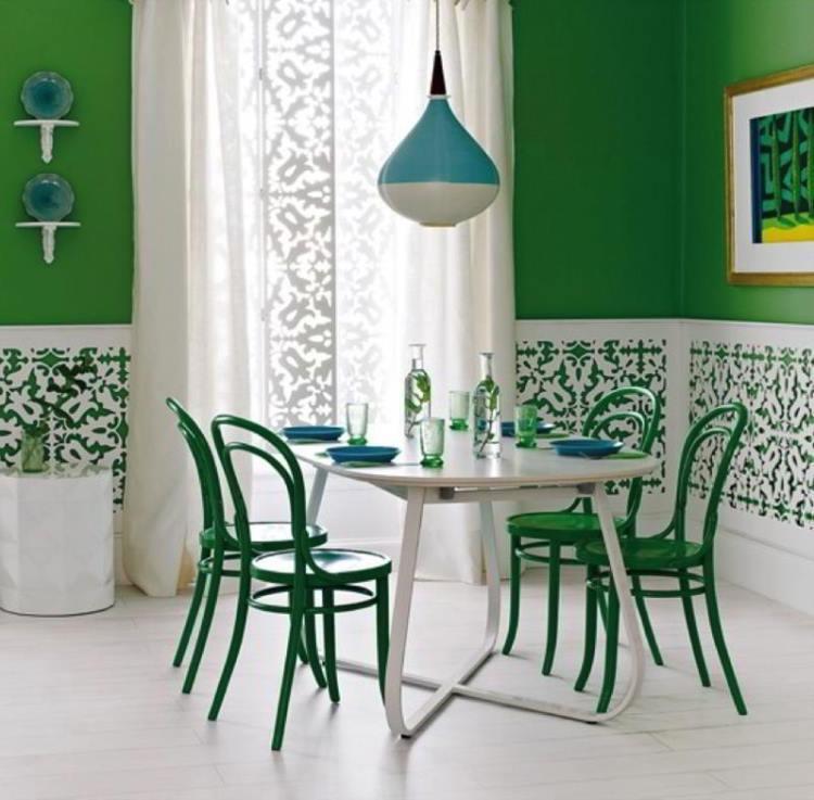 зеленый интерьер фото 3
