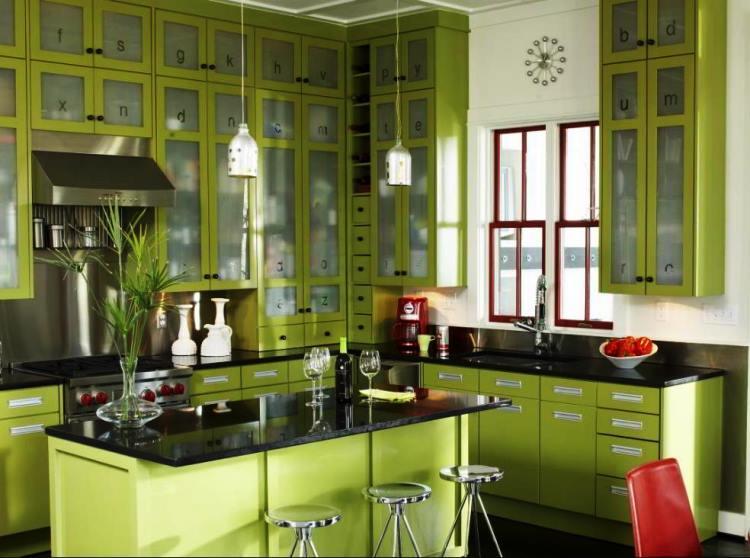 зеленый интерьер фото 5