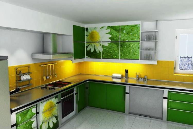 зеленый интерьер фото 6