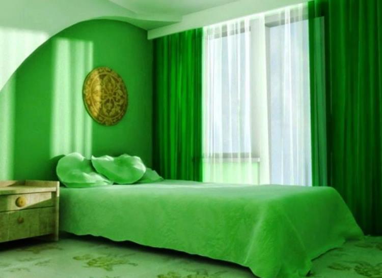 зеленый интерьер фото 8